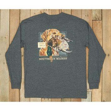 Southern Marsh Blue Gun Dog Collection Tee- Three- Midnight Grey