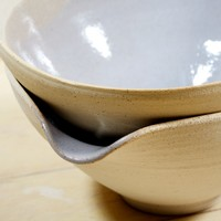 JOINERY - Spouted Bowls by Signe Yberg (Light Grey) - LIVING