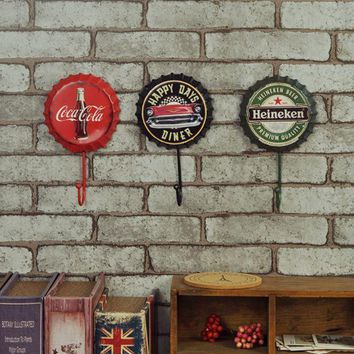 PEAPDQ7 Creative Home Decoration Metal Beer Bottle Hook