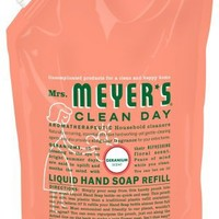 Mrs. Meyer's Clean Day Liquid Hand Soap Refills, Geranium, 34-Fluid Ounces (Pack of 6)