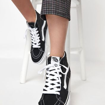 Vans Women's Black and White Sk8-Hi Platform Sneakers at PacSun.com