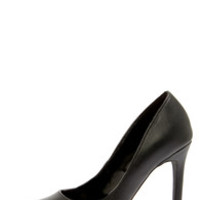 Report Tanzy Black Pointed Platform Heels