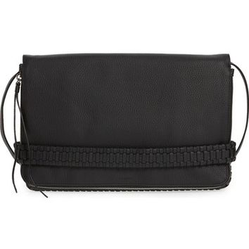 ALLSAINTS 'Club' Convertible Leather Foldover Clutch with Hand Strap | Nordstrom