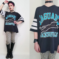 90s Clothing Jersey Tshirt Jacksonville Jaguars Health Goth 90s Tshirt 90s Sports Tshirt 90s Grunge Vintage Sports Tshirt Size Large