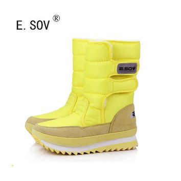 E.SOV 2017 new winter thickening women's shoes snow boots thermal shoes women's boots