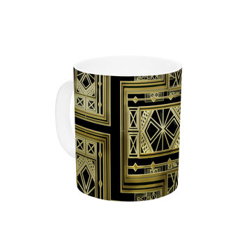 "Nika Martinez ""Golden Art Deco"" Ceramic Coffee Mug"