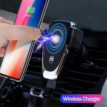 FAST 10W Wireless Car Charger Phone Air Vent Mount for iPhone, Samsung, Huawei and Xiaomi Models