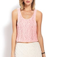 Cable Knit Crop Top