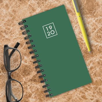 Green Small Academic Weekly/Monthly Planner