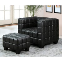 Abbyson Living Firenze Top Grain Leather Chair and Ottoman Set | Overstock.com