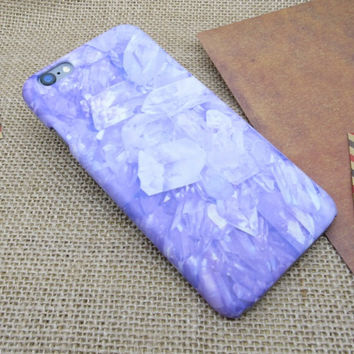 Purple Marble Stone iPhone 5se 5s 6 6s Plus Case Cover + Nice Gift Box 275