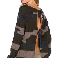Tie Sweater in Camo