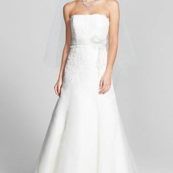 Women's Jenny Yoo 'Lucinda' Lace & Organza Gown ,