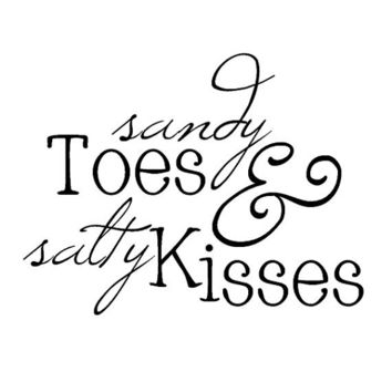 Large - Sandy Toes and Salty Kisses Ocean Beach Vinyl Wall Decal