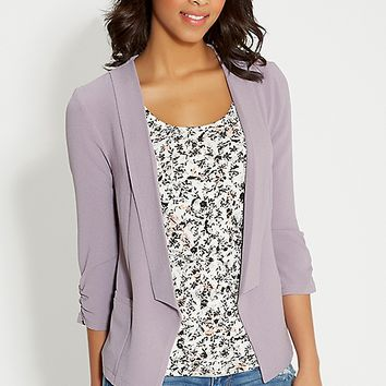 blazer in textured fabric with pockets | maurices
