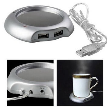 USB Insulation Coaster Heater Heat Insulation Coffee Cup Mug Mat Pad Coaster MC Gift