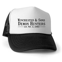 CafePress Winchester Sons Trucker Hat - Standard Black/White