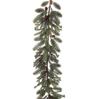 Noble Fir Artificial Christmas Garland with Pine Cones (Unlit)