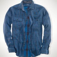 DOUBLE-FACED GINGHAM WORKSHIRT