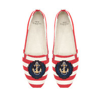 NAUTICAL STRIPE CANVAS SLIPPERS - Shoes - TRF | ZARA Canada