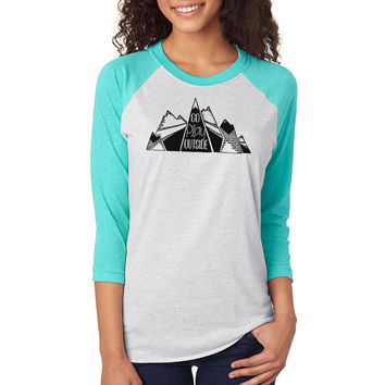 Go Play Outside Raglan Tee