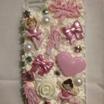 Ballet-themed Decoden iPhone 4 Case