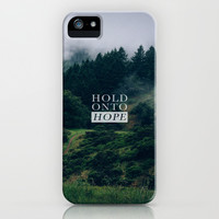 HOLD ONTO HOPE iPhone & iPod Case by Pocket Fuel