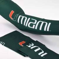 University of Miami Letters Arm sleeve