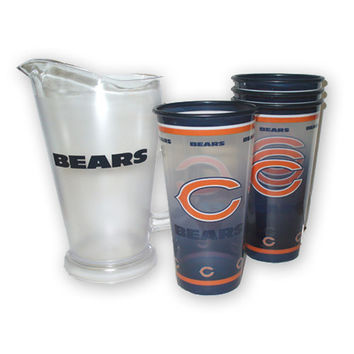 Chicago Bears NFL Tailgate Pitcher and Souvenir Cups Set