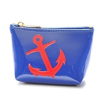 Mini Avery Case in Navy with Red Anchor by Lolo - FINAL SALE