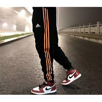 ADIDAS Men's and Women's Knitted Pants Pants Casual Sports Pants F-AA-XDD Orange