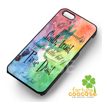 Pixie Dust Tinkerbell quotes - ziii for  iPhone 6S case, iPhone 5s case, iPhone 6 case, iPhone 4S, Samsung S6 Edge