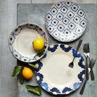 Glazed Terracotta Dinnerware Set – Blue Tile