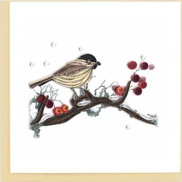 Quilling Card Birds and Berries Greeting Card