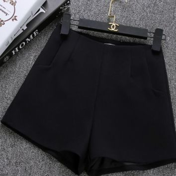 Classy high waist dressy shorts in solid colors