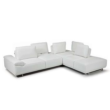 Roxanne Right Hand Facing Sectional #35612 With Adjustable Back & Arm Cushions