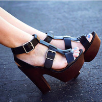 Higher Ground Pumps - Black