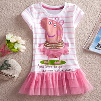 New Baby Girls Dress Princess Peppa Pig Dresses Children Clothing Kids Girl Party Dress Pink baby Wear SV000734|28001 Children's Clothing = 1645873028