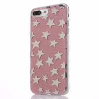 Glitter and Stars Case for iPhone 7, 7 Plus in Five Colors
