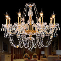 Modern Crystal Chandelier Led Hanging Lighting European Style Glass Chandeliers Light For Living Dining Room Restaurant Decor