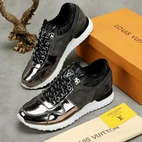 LV Louis Vuitton Fashion Men Casual Sport Shoes Sneakers Silvery