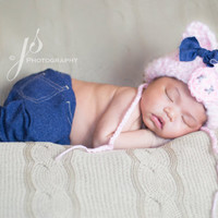 Pink Pig Hat, Pig Bonnet, Photo Props, Photography Props, Pig, Pig Hat, Newborn Pig Hat, Farm, Country, Country Pig Hat, Beanie, Outfit