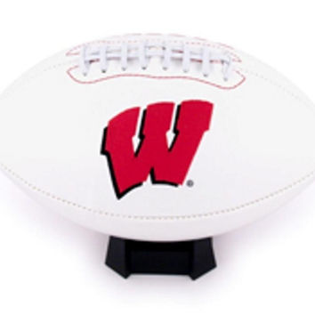 K2 Signature Series Full Size Team Footballs - University of Wisconsin Badgers