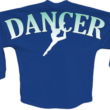 Dancer Blue pom print J america women Long sleeve shirt