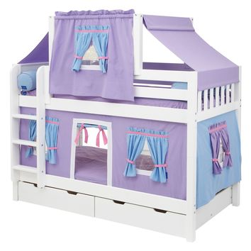 Hot Shot Girl Twin over Twin Deluxe Tent Bunk Bed | www.hayneedle.com