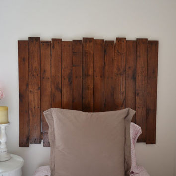 Reclaimed Pallet Wood Rustic Headboard - (Twin) Gender Neutral