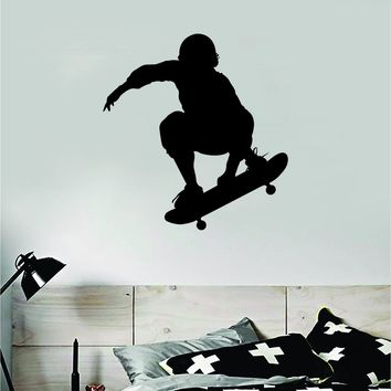 Skater V2 Wall Decal Decor Sticker Vinyl Art Bedroom Room Teen Sports Skating Skating Skate Skateboard Kids Boys