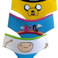 Adventure Time Totally Rhombus 3 Pack Hipster Briefs for women:Amazon:Clothing