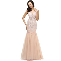 Mermaid Sheath Prom Dress,Prom Dresses,Long Evening Dress