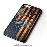 Deer Camo With Love Flag Design for iPhone 4 4S 5 5S 5C 6 6 Plus, and iPod Touch 4 5 Case